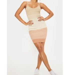 Stone Stripe Detail Knitted Strappy Dress